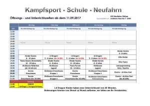Unterrichtsplan neu ab 11.09.2017